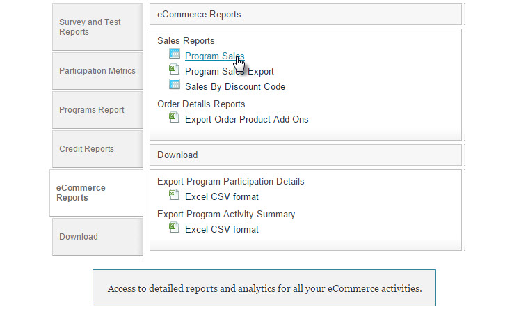 Rievent eCommerce Reporting